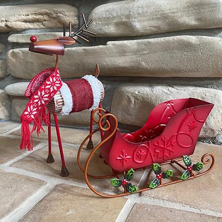 Reindeer & Sleigh Set