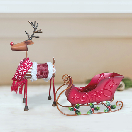 Reindeer & Sleigh Gift Set