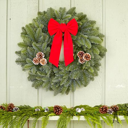 "22"" Noble Fir Wreath"
