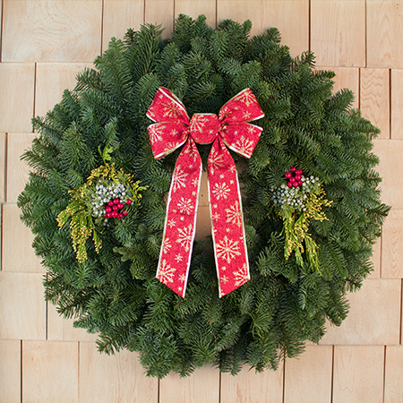"28"" Mixed Evergreen Gift Wreath"